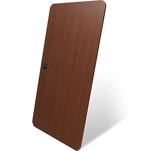 DCHOUSE Tablero de mesa de madera maciza, 120 x 60 cm, para escritorio de altura regulable, con capacidad de carga de 120 kg, color marrón