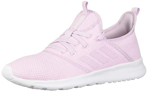 adidas Women's Cloudfoam Pure Running Shoe, Aero Pink/Aero Pink/White, 7.5 Medium US