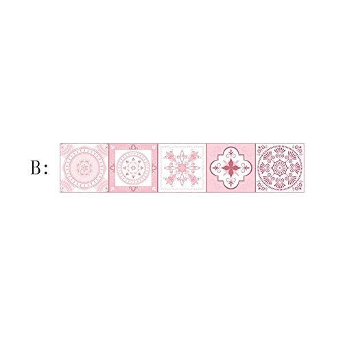 Liteness - Adhesivo decorativo para azulejos de baño (PVC, impermeable), color rosa