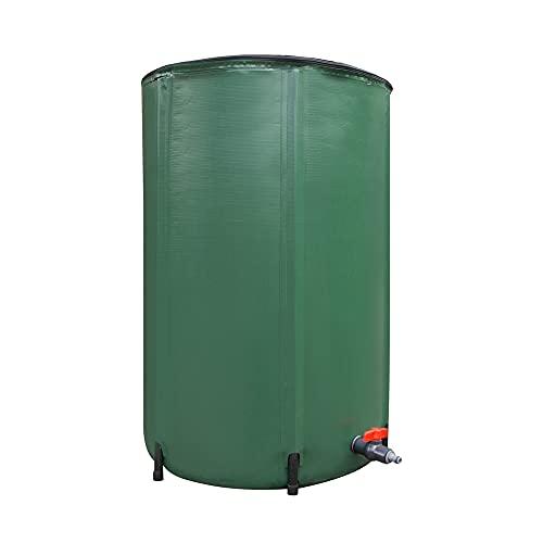 Peak Nature - Serbatoio per acqua piovana pieghevole, capacità fino a 250 litri, struttura robusta con 6 aste, serbatoio per acqua piovana con rete di protezione e valvola di troppopieno