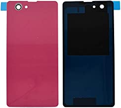Draxlgon Battery Housing Door Cover Back Case Replacement for Xperia Z1 Compact Mini D5503 M51W Pink