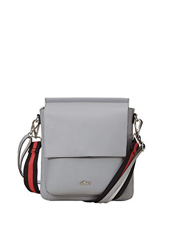 s.Oliver (Bags Damen Shoulder Bag Schultertasche, Grau (Light Grey), 8x20x25 cm