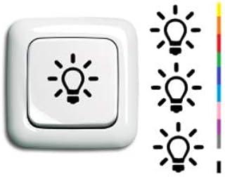 Generisch 4x Lichtschalter Aufkleber Licht Schalter Schalteraufkleber Silhouette Aufkleber 254 1 3 Schwarz Glanz 3 X 2 5 Cm Auto