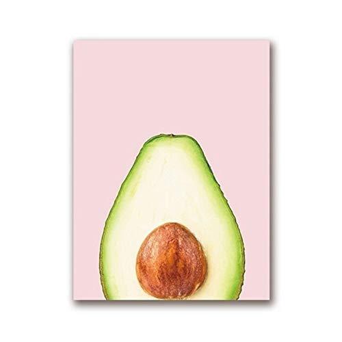 Romantische nacht 99 verf door cijfers Avocado Fruit Poster Canvas Art Prints, Avocado Trend Art Schilderen Muur Foto's Thuis Keuken Decor Geen Frame ####4542