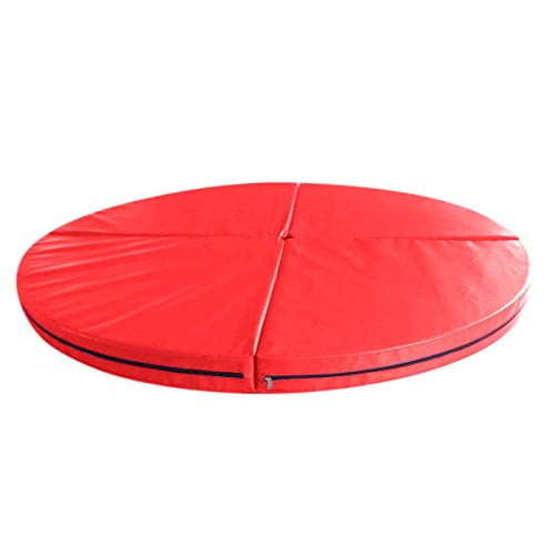 120X10cm Pieghevole Pole Dance Safety Yoga Mat Floor Home Gym Esercizio Fitness Pad Tappetini da Ballo Rotondi Portatili Training Body Building