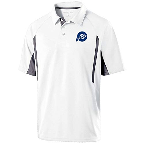 Ebonite Bowling Products Herren Mens PoloWhite Small Ebonite Avenger Poloshirt, Weiß/Graphit, Größe S