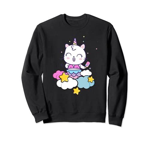 Kawaii Unicornio Gato Nube Helado Bonito Diseño Regalo niños Sudadera