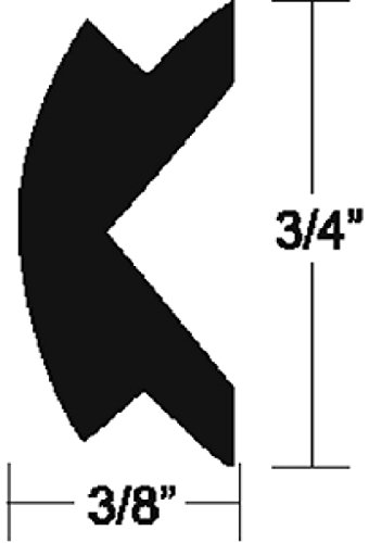"TACO Marine V12-4155BKA50-1 Flexible Rub Rail Vinyl Insert - 3/4"" x 3/8"" -  TACO Metals, V124155BKA501"