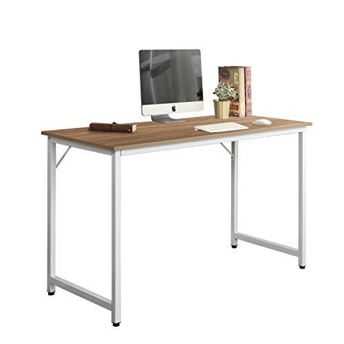 soges Schreibtisch 100x50cm Computertisch Arbeitstisch Bürotisch Holz, PC Laptoptisch Studie Tisch für Zuhause und Büro, Stabil mit Metallrahmen, Eiche WK-JJ100-OK