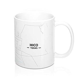 Hico Texas Map Mug  11 oz