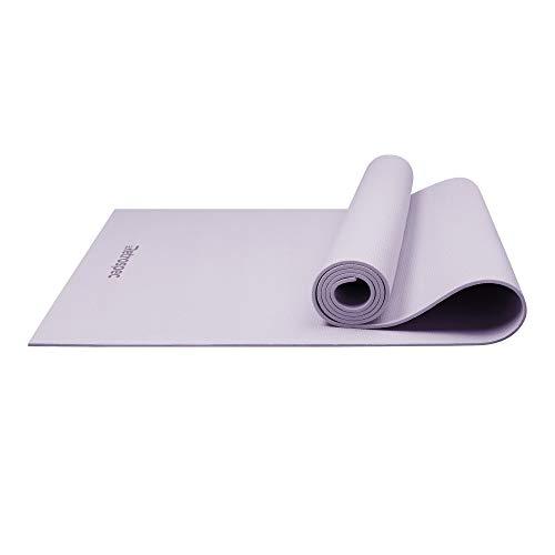 Retrospec Pismo Yoga Mat w/Nylon Strap for Men & Women - Non Slip Excercise Mat for Yoga, Pilates, Stretching, Floor & Fitness Workouts, Cool Lavender (3875)