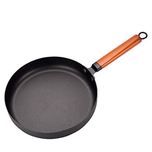 FXJ Uso polivalente Fundición de Hierro Forjado de la Vendimia Pot Chinese Wok Antiadherente sartén Inicio Wok de la Cocina Que Cocina la Estufa de Cocina de inducción de Gas Utensilios de Coc
