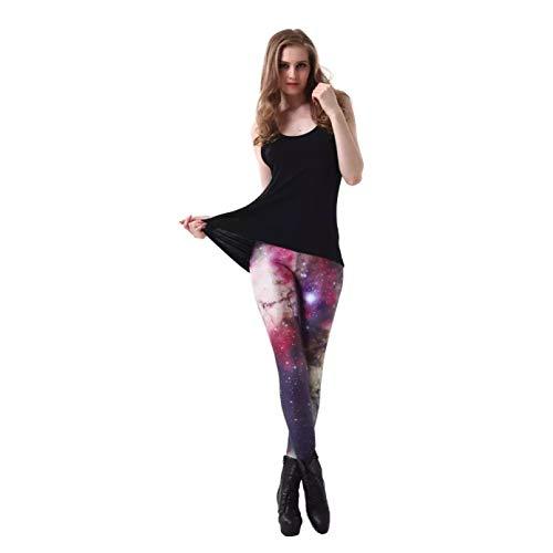 YJKGPZQLZ Leggings Polainas 3D Galaxy Leggings para Mujer Legging de Cintura Alta Pantalones de Invierno Estampados para Mujer Leggings Ajustados para Fitness Ropa de Gimnasio
