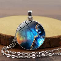 Huang Glass art Mortal Kombat Halskette handgefertigt Glas Kuppel Skorpion Sub Zero Anhänger Schmuck Steampunk Halskette