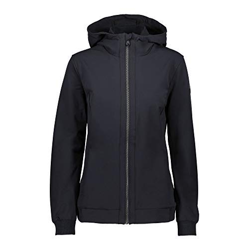 CMP softshelljack Woman Fix Hood Jacket grijs effen kleuren softshell