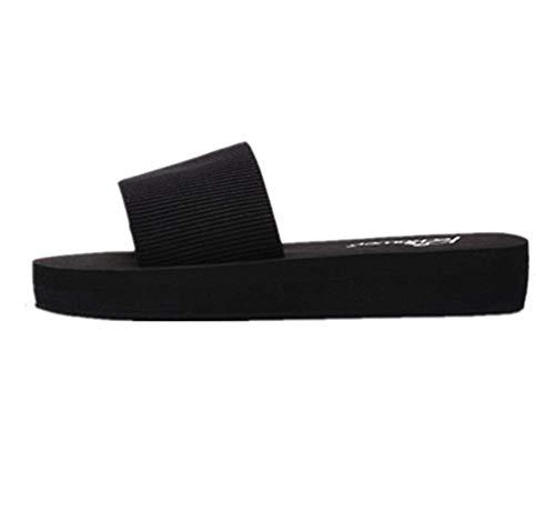 Tianmao Flip-Flops Sandalen Damen Sommer Zehentrenner Pantoffeln, mit Absatz 4 cm (40 EU)