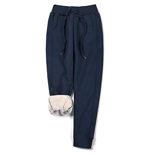 Pantalones Deportivos Para Mujer Pantalones De Chándal Largos Pantalones De Lana Cálidos Pantalones De Entrenamiento Con Forro Polar Grueso De Invierno Pantalones De Entrenamiento