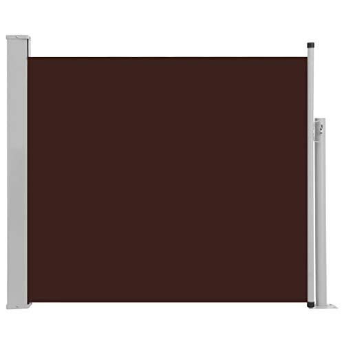 Tidyard Tuinscherm uittrekbaar Patio Intrekbare Zijluifel Tuinzijluifel Automatische Terugrol Voor Terras Patio of balkon Privacyscherm 100x300 cm Bruin