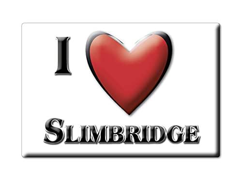 Enjoymagnets SLIMBRIDGE (ENG) CALAMITA Magnete Inghilterra Souvenir I Love Idea Regalo