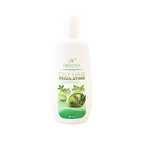 Hristina 100% Natural Shampoo for Oily Hair - For Healthy Scalp & Hair –...