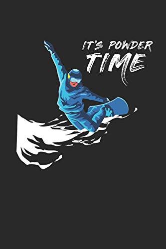 It's Powder Time: Notebook Notizbuch Register Karo Kariert Journal Din A5 120 Seiten Matheheft I Schulheft I Skizzenbuch I Tagebuch I Ideenbuch I Snowboarder I Winter I Schnee