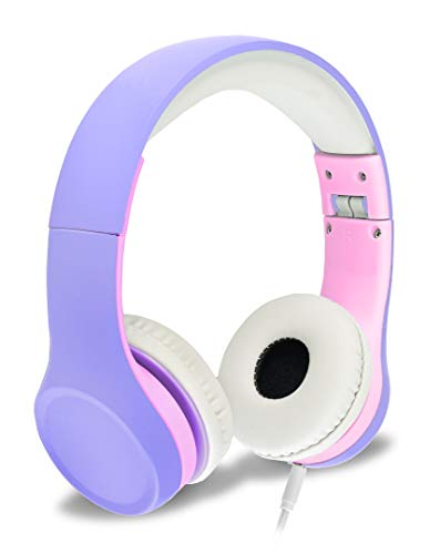 Nenos Kids Headphones Childrens Headphones for Kids Toddler Headphones Limited Volume (Lavender)