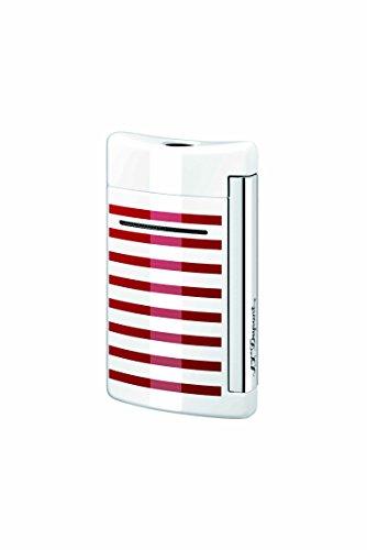 S.T. Dupont S.T. Dupont Minijet Feuerzeug,Motiv: Schwarzer Totenkopf White/Red Stripes White/Red Stripes