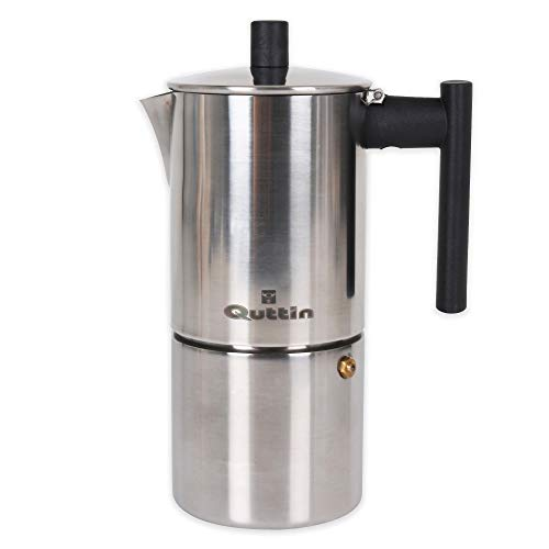 Quttin Cafetera 6 Servicios Induccion INOX Tower, Acero Inoxidable, Multicolor