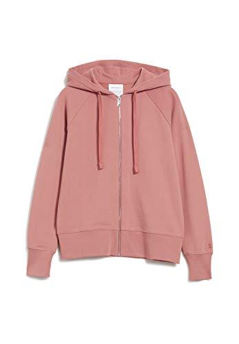 ARMEDANGELS AASMIN - Damen Sweatjacke aus Bio-Baumwolle M Cinnamon Rose Sweathoodie, Sweat Jacke, Sweatjacket Solid Regular fit