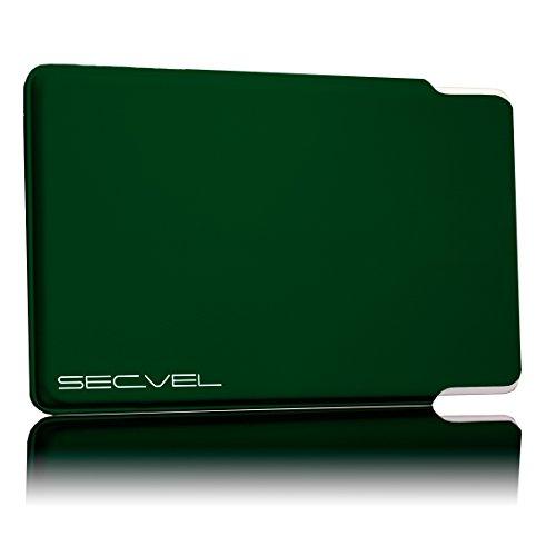 TÜV geprüfte und patentierte Schutzhülle 5-Fach Kartenschutz - Green | RFID NFC Blocker | Magnetfeld Abschirmung | Störsender für Kreditkarte, EC Karte, Personalausweis | 100% Aktiv Schutz