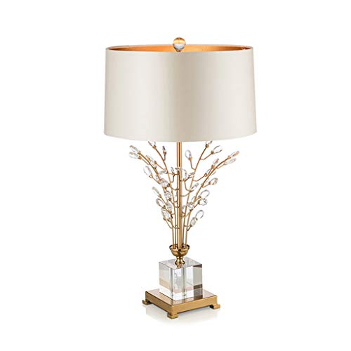 JYDQM Moderno Minimalista Arte Creativo Lámpara Mesa de Cristal de Cristal Americano lámpara de Noche lámpara de Noche Hotel de Gama Alta Sala de Estar