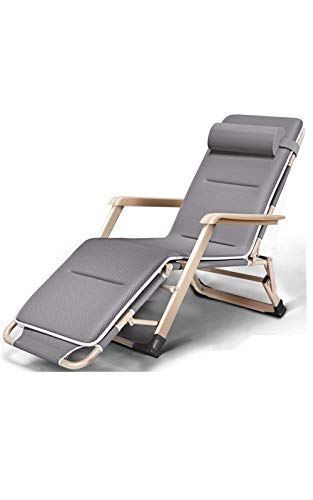 GQFGYYL-QD Folding Garden Sun Lounger Chair, with Head Pillow and Cotton Cushion Zero Gravity Lounge Chair, for Garden, Outdoor Terrace, etc.