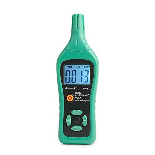 W-L Metro de Prueba de Humedad Detector del formaldehído Medidor Digital de formaldehído Tester de Aire Sensor de Gas Analizadores de Temperatura Monitor de Calidad del Aire
