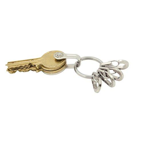 True Utility TU245 Keyring System Porte-clés avec 5 Anneaux pour clés/Accessoires