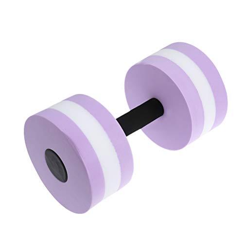 VORCOOL Mancuernas de agua para fitness, color morado