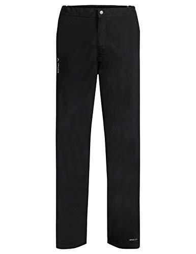 VAUDE Herren Yaras Rain Zip Pants III Regenhose zum Radfahren, black, 50, 414270105300