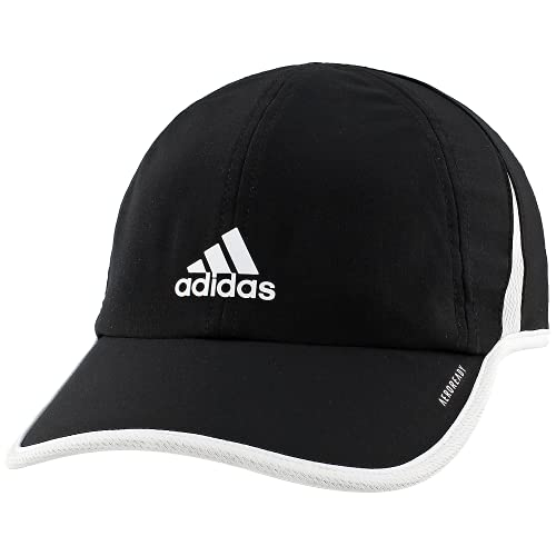 adidas Women's Superlite Relaxed Adjustable Performance Cap, Black/White, ONE SIZE