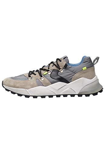 VOILE BLANCHE CLUB10-Sneaker con Occhielli Metallici Grigio 44
