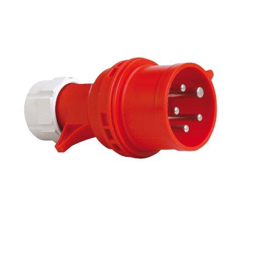 PCE 40829L CEE-Stecker mit Phasenwender, 16A, rot, lose