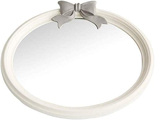 YELLAYBY Nordic European Solid Wood Mirror Long Beach Mall Great interest Ba Wall-Mounted Round