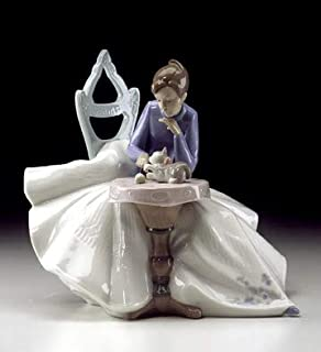 NAO by Lladro Playing with Kitty Collectible Figurine #01355 Glazed Finish