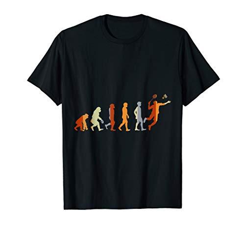 Geschenk für Federballspieler Evolution Badminton T-Shirt