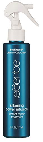 AQUAGE SeaExtend Silkening Power Infusion, 6 Oz, Powerful 60-Second, Rinse-Out Treatment that Repairs and Silkens Color-Treated Hair, Replenishes Porous Strands