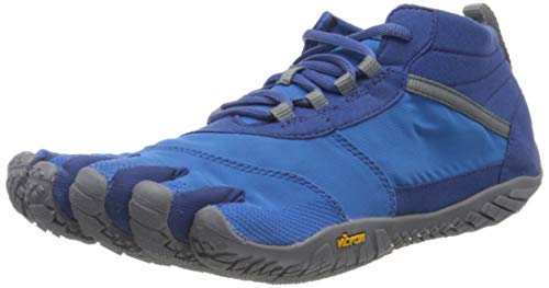 Vibram V-Trek, Zapatillas Hombre, Azul/Gris, 45 EU