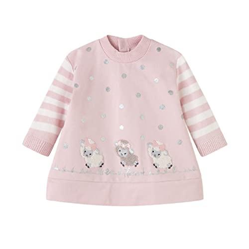 Mayoral Vestido Felpa Combinado Bebe Niña 6 a 36 meses Rosa (18 meses)