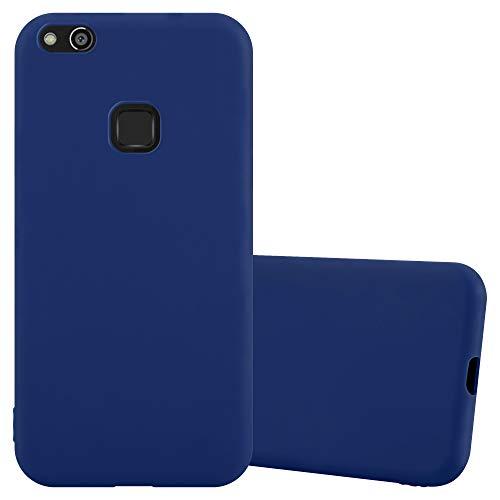 Cadorabo Custodia per Huawei P10 Lite in Candy Blu Scuro - Morbida Cover Protettiva Sottile di Silicone TPU con Bordo Protezione - Ultra Slim Case Antiurto Gel Back Bumper Guscio