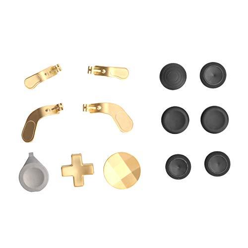 PUSOKEI Empuñadura de Metal para joysticks de Repuesto, joysticks de Intercambio de Gamepad(Oro)