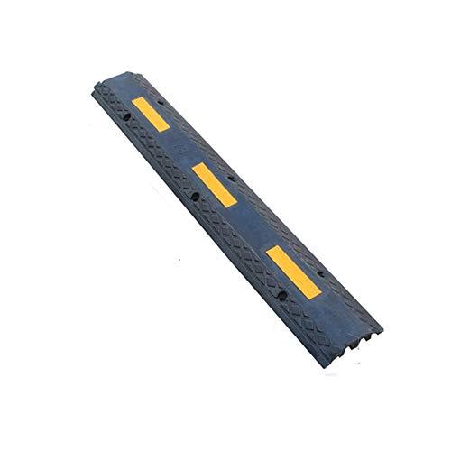 Yaunli Straatrand oprijplaat, vloerbedekking, rubberen buffer, rubberen draad, trunking-plaat, beschermhoes rubbergolf, straatrand helling (kleur: zwart, maat: 100x15x3cm)
