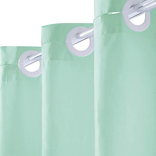 Furlinic Tenda Doccia Extra Lunga Tenda Da Bagno Tessuto Antimuffa Per Vasca Da Bagno e Tenda Doccia In Tessuto Antibatterico Lavabile Con Grandi Occhielli Verde Extra Grande 200x203cm