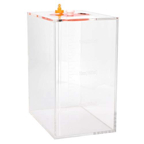 Fdit Aquarium Acrylique Liquide Seau De Stockage Réservoir De Poissons Réservoir Liquide Récipient Pompe Doseuse Baril Titration Réservoir avec Échelle(2.5L)